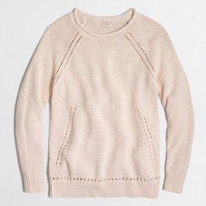 J. Crew Factory Beach Sweater W Pointelle Details